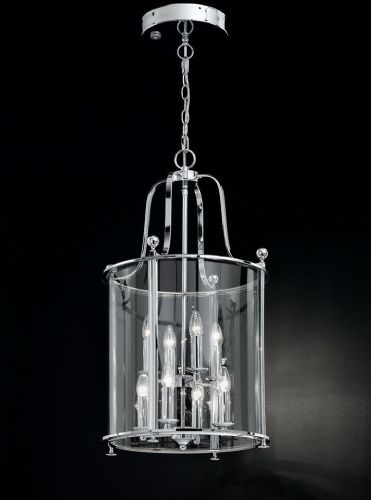 Franklite LA7000/8 Chrome Pendant Light